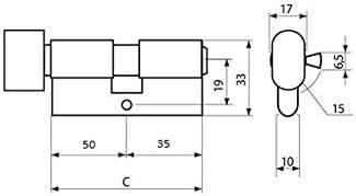 KOTARBAU Schlie/ßzylinder 45//45 Nickel Mit Knauf Zylinderschloss Profilzylinder T/ürzylinder Schloss Schlosszylinder Sicherheitsschloss Doppelzylinder