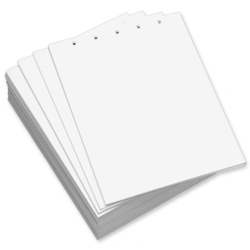 Wholesale CASE of 5 - Domtar Custom Cut Top-Punched Sheets-Custom Cut Sheets, 5-Hole Top, 8-1/2