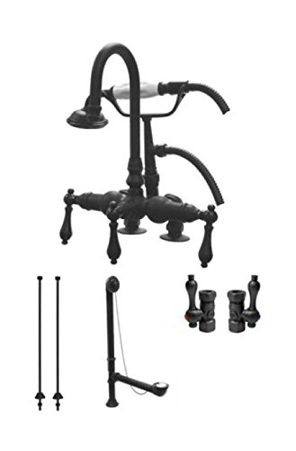 Kingston Brass CCK13T5 Vintage Deck Mount Claw Foot Faucet Package, 4-3/4-Inch, Oil Rubbed Bronze -