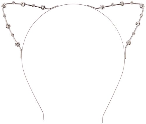 Leegoal Crystal Cat Ears Silver