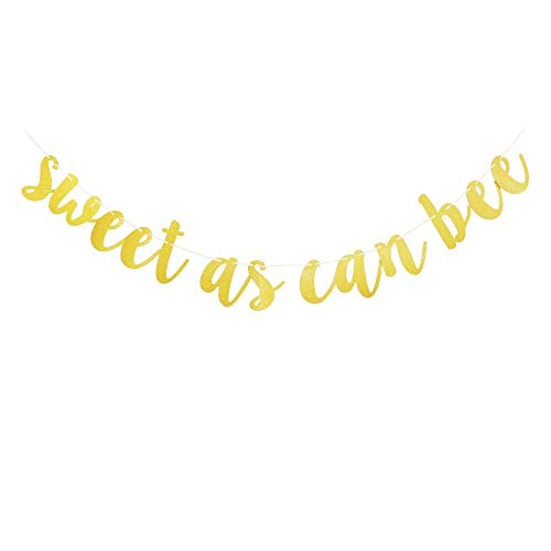 Sweet As Can Bee Banner, Baby Shower Party Sign, Gender Reveal Party Supplies, Baby Boys Girls' Birthday Party Bunting Decorations