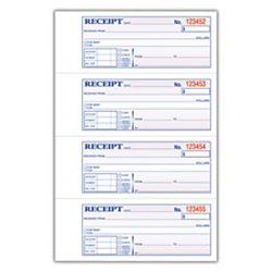 Adams(R) Carbonless 2-Part Money/Rent Receipt Book, 7 5/8in. x 11in, Book of 200 Sets by Adams