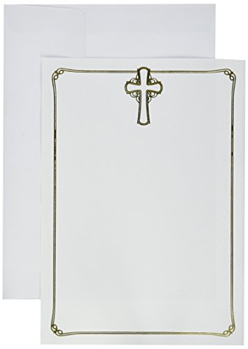 Great Papers! Gold Flat Card Invitation, Foil Lined Envelopes, 5.5