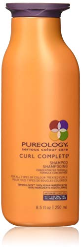 Pureology | Curl Complete Cleansing Shampoo | Revives Curls & Controls Frizz | Sulfate-Free | Vegan | 8.5 oz.