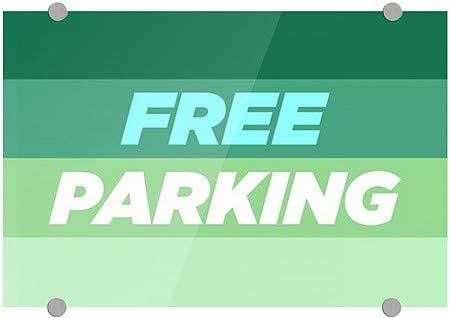 Customer Parking Only 16x16 CGSignLab Stripes Gray Premium Brushed Aluminum Sign 5-Pack