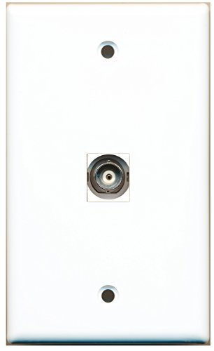 Module Bnc Keystone (RiteAV 1 BNC Video Wall Plate White with Keystone Coupler Type Jack)