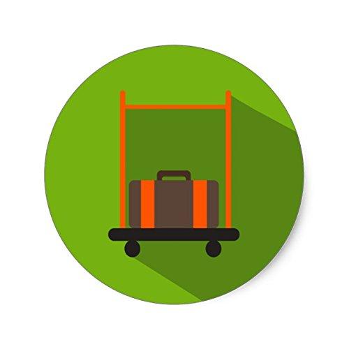 Lancy's Artwork Hotel Bellman Luggage Cart Icon Sticker - Sticker Graphic - Auto, Wall, Laptop, Cell, Truck Sticker for Windows, Cars, Trucks
