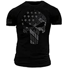 Punisher Blackout American Flag Premium Athletic Fit T-Shirt