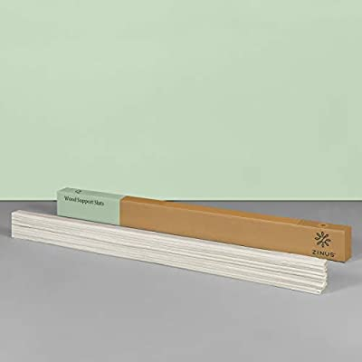 Zinus Solid Wood Bed Support Slats/Fabric-Covered /