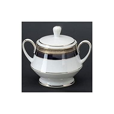Noritake Crestwood Cobalt Platinum Sugar Bowl with Cover