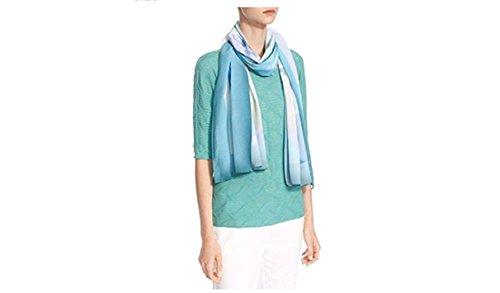 Armani Collezioni 100% Silk MultiColor/Turquoise With Authenticity Tag, One size (Giorgio Armani Collezioni)