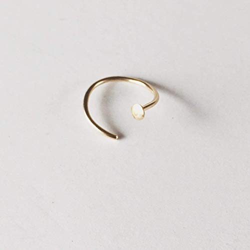 14k Gold Filled Adjustable Metal Hoop Nose Ring 20 Gauge 5mm-6mm