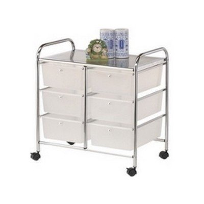 Metlex Storage Rack On Wheels Portable 6 Drawer Trolley Home