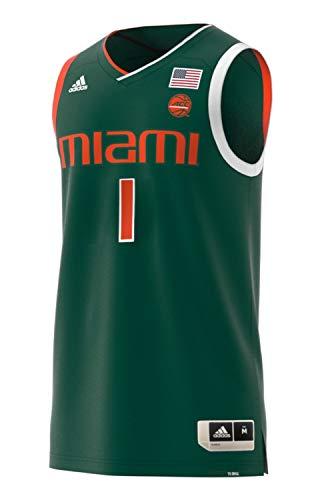 adidas Miami Hurricanes NCAA Men's Swingman Basketball Jersey