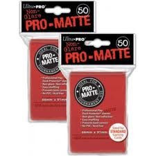 Ultra Pro PRO-MATTE (100 Count) Red Deck Protector Sleeves - Magic the Gathering