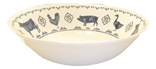 Highland Croft Farm Animals Ceramic Salad Bowl by Highland Croft