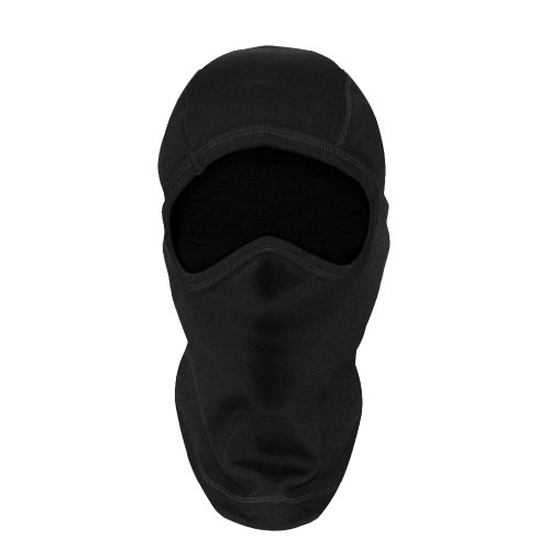 (Woolx Unisex Balaclava Heavyweight Warmth Merino Wool Face Mask For Men & Women , Black, One Size)