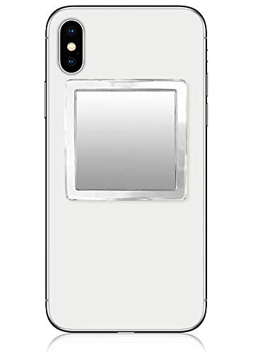 - iDecoz Phone Mirror/Sticks on The Back of Your Phone or case. The Replacement for The Compact Mirror. It's The Best Way to Check Yourself Out On-The-Go! (Clear Lucite)