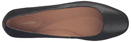 Calvin Klein Women's Fridelle Ballet Flat Black Lizard Printed Leather oxWw9ZY3E