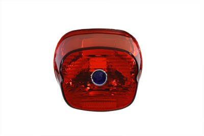 V-Twin 33-1171 - Tail Lamp Lens Laydown Style Red with Blue Dot