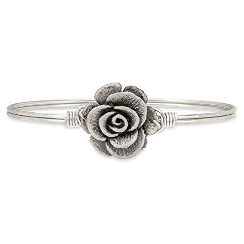 (Luca + Danni Rose Bangle Bracelet - Petite/Silver Tone)