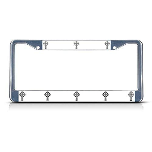 Cross Celtic Chrome - Teisyouhu Celtic Cross Religion License Plate Frame Car Tag Frame Auto License Plate Holder