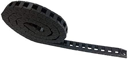 WNJ-TOOL, 1pc 10x10mm 1000mm Brücke Nichtöffnungs Kunststoff Schleppkette Kabelschlepp Drahtträger mit Anschlüssen for CNC (Farbe : R28, Größe : 10x10 mm)