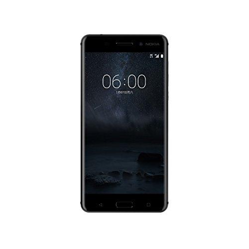bolsa del cinturón / funda para Nokia 6 Dual-SIM, negro + Auriculares   caja del teléfono cubierta protectora bolso - K-S-Trade (TM)