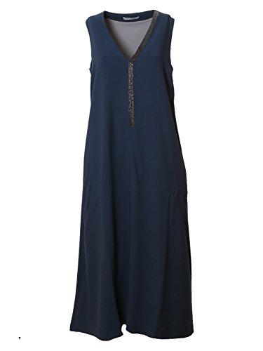 Fabiana Viskose AB315185090 Filippi Blau Kleid Damen ggFOaqw1