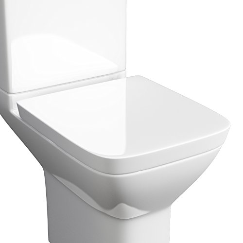 square toilet seat uk. Kartell Project Square Soft Close Toilet Seat OnlyKartell  Only Amazon co uk Uk Closing Seats and White