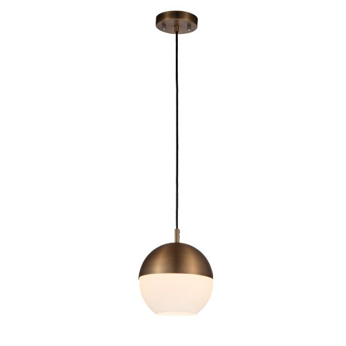 Glass Round Pendant Light in US - 9