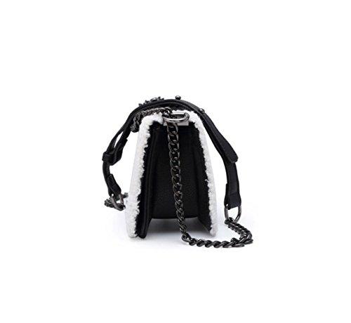 Petit Bag Cheveux Petits Ling De Chaîne Carré La Black Messenger En Version Des Peluche Marée D'agneau Encens Paquet AawqwCvx