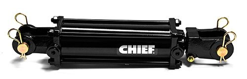 Chief TC3 3000 PSI Tie-Rod Cylinder for Double Acting 3'' Bore x 18'' Stroke - 1.5 Rod Dia #8 SAE Port Retracted 28.25