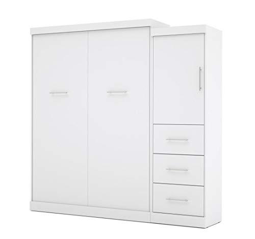 Bestar Nebula 90 Queen Wall Bed Kit w/3 Drawer Set White