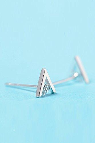 - Generic Mrs._Shen_925_silver_ earring dangle eardrop ,_minimalist_and_versatile_Asian_edition_field_Triangular_Inserts_diamond_ women girls Jewelry _elegant_ temperament _ears