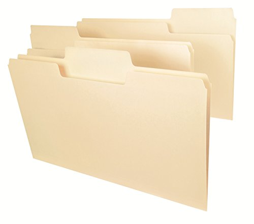 Smead SuperTab Heavyweight File Folder, Oversized 1/3-Cut Tab, Legal Size, Manila, 50 Per Box (15401)