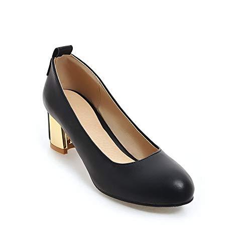 5 Compensées Sandales 36 DGU00648 Femme Noir Noir EU AN q0EazE