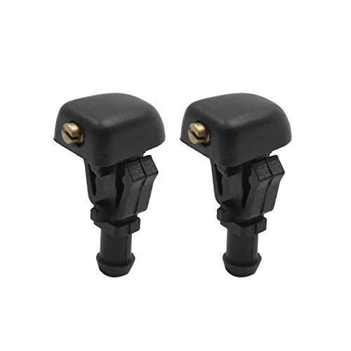 - X AUTOHAUX 2pcs Black Plastic Front Windshield Wiper Nozzles 28931-7S000 for Nissan Titan Armada 2004-2015