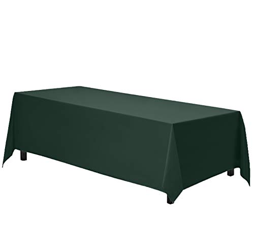 Gee Di Moda Rectangle Tablecloth - 70 x 120 Inch - Hunter Green Rectangular Table Cloth in Washable Polyester - Great for Buffet Table, Parties, Holiday Dinner, Wedding & More (Green Fabric Cloths Table)