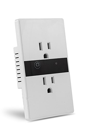 Faryuan Wifi Wall Socket with 2 Way Outlet, Duplex Receptacle with Wireless Timing Functionfor, 10A, with LED Indicator Light and Touch Panel Plate Button, Compatible with Alexa ,Google Home, APP