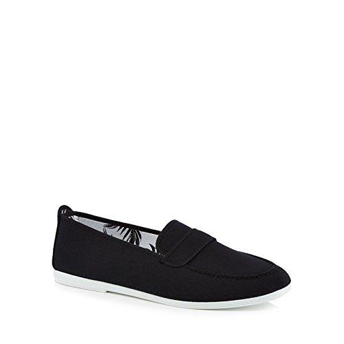 Flossy Men Black Canvas 'Hobby' Loafers oGK8oDnYNL