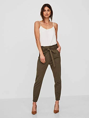 Vero Moda Vmeva HR Loose Paperbag Pant Noos Ki Pantaloni Donna