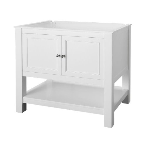 Foremost GAWA3622 Gazette 36-Inch Vanity Cabinet, White
