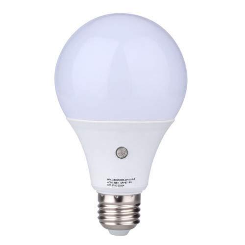 E27 LED Sensor Light Bulbs Built-in Photosensor Detection Auto Switch Light Indoor/Outdoor Lighting Lamp for Porch Hallway Patio Garage (7W 630Lumens, Warm White 3000K) by cjc