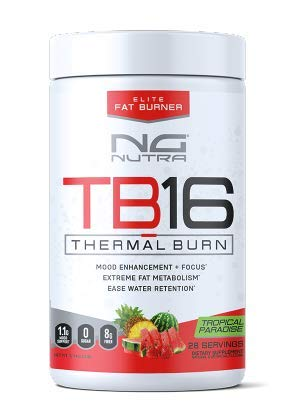 NG Nutra TB16 Thermal Burn, Reduce Fat, Support Energy, Mood, Concentration, Ease Water Retention, Metabolize and Tone, Sweetened with Sucralose, Tropical Paradise