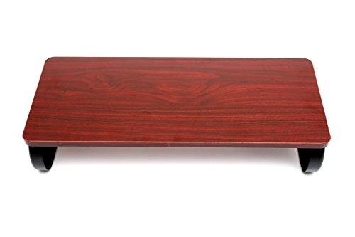 Halter LZ-400 Premium Executive Monitor Stand, Laptop Stand, Monitor Riser - Home & Office Desk Organizer (Cherry) - Executive Cherry