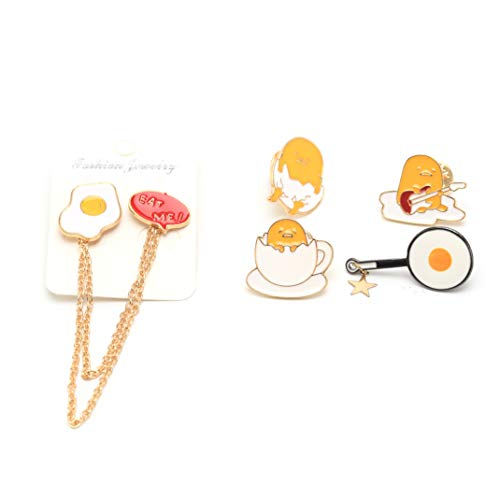 Cute Brooch Pins Set,Girls Women Enamel Lapel Pin,Novelty Egg Brooches Gift