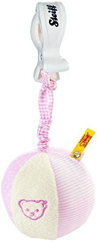 (Steiff Rattle Ball With Rustling Foil - Pink by Steiff)