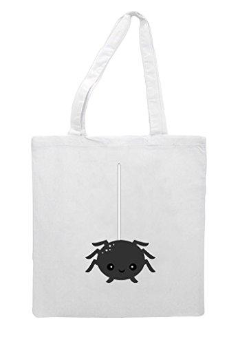 Bag Kawaii On White Character Tote Shopper Cute Halloween Web Spider A 8E77ndq1