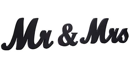 (jollylife Vintage Affair MR & MRS Black Wooden Letters Wedding Decoration/Present)